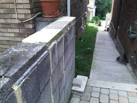Handyman Pittsburgh-Block Wall Repair