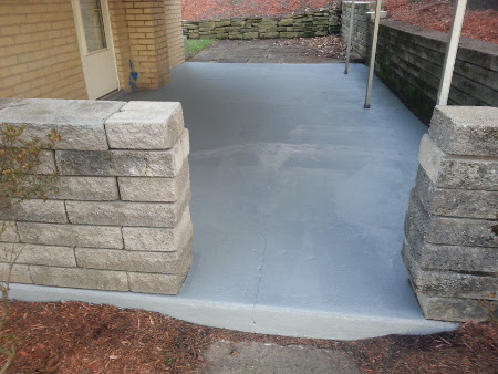 After home repair of concrete porch