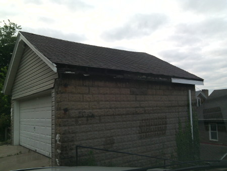 Home Repair Pittsburgh-Garage Gutter