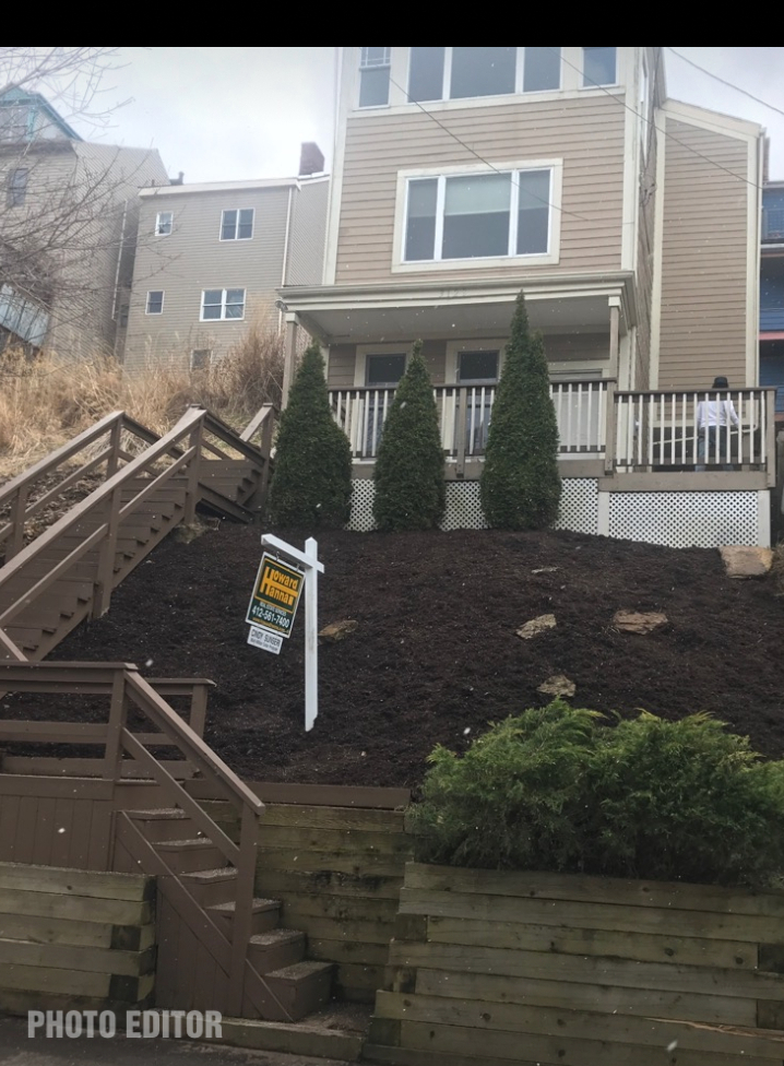 Pittsburgh property after cleanup and landscaping