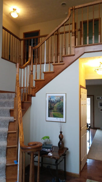 staircase before interior painting