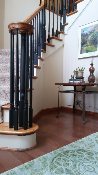 staircase after interior painting project